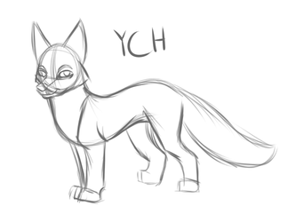 Fox YCH by AmnesiaMoons