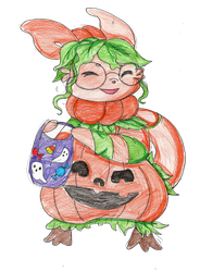 Prompt: Costume: Pumpkinception by Danielle-chan