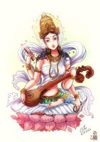 Saraswati mata by In-Sine