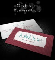 Classic Retro Business Card by MosheSeldin