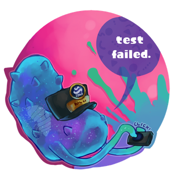 You let an 8-ball fall!! by LittleWoodlouse