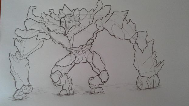 sketch 1 stone golem by Combater
