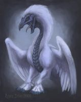 Feathery Ice Dragon by rleeny