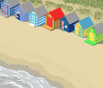 Bathing Boxes Brighton Beach by ShoneGold