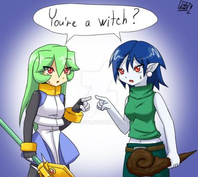 Pandora and Misery: You're a witch? by Lady2011