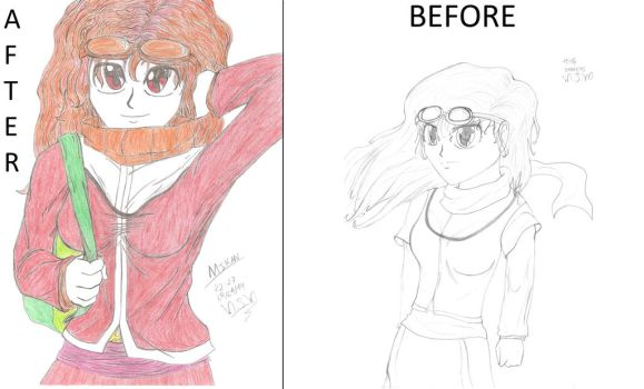 Mikan Before and After - MSMoura by MSMoura
