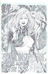 Goblin Queen - Pencil by edtadeo
