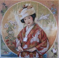 Japanese Maiden by StitchingDreams