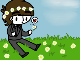 George Picking Flowers by ChazzyLlama