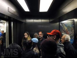 Subway Elevator in Manhattan by steeber