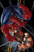 Spidey vs Juggy by nikoanaya