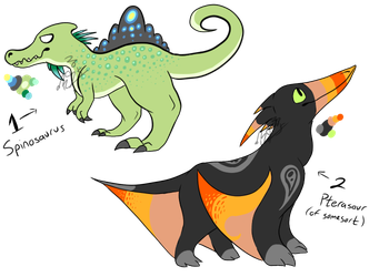 Dino Adopts (closed!) by RaptorFeathers