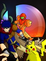 SSBB: Ike, Samus and Pikachu by Reno-s--Brain