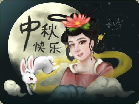 Moon Festival: Chang'E and the Jade Rabbit by livelovelaughlila