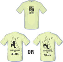 bodybuilding for JESUS t-shirt by Silence-sk
