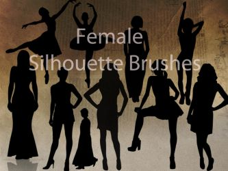 Female Silhouette Brushes by Tink-ling