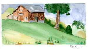 Stain Glass Barn by EsBest