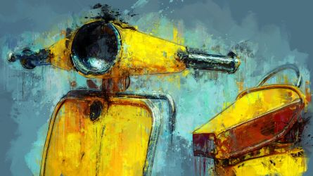 Blue and Yellow by Cr8ivDigitalPainting