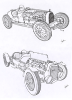 Lineart Classic Cars by vsdesign69