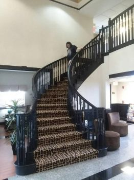 Mini Vacation: Best Western hotel stairs by Panther-Moon
