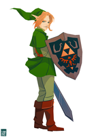 Link - Ocarina of Time by FionaCreates