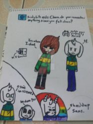 Ask Chara and Asriel 1 by DoodleCreeper