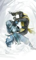 mortal kombat sub-zero vs scorpion  by jersonayala27