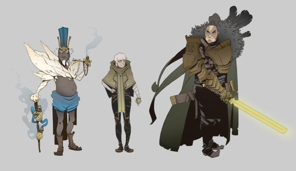 World Building / Days 34-35 : Spire Citizens by BrotherBaston