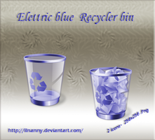 Elettric Blue Recycler bin by ilnanny