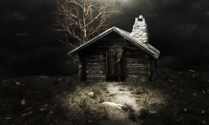 Cabin in the Mountains by Atroksia-Photography