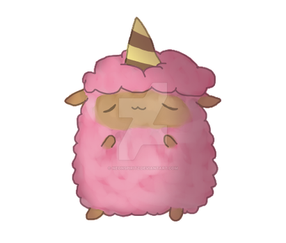 AJ Cotton Candy Sheep KAWAII by NeonSpiritz