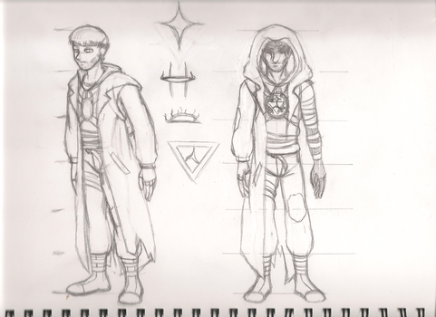 Character Design Sketch: Necromancer by Radiance2020