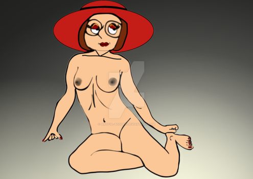 Meg With Only A Red Hat by artful-bodger