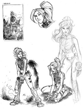 Terra sketches by JoeyVazquez