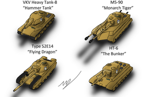 Equestrian Heavy Tanks by ZatGeneral