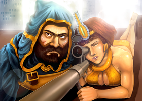 Leon and Matilda.. I mean Ullr and Neith by greenmaggot