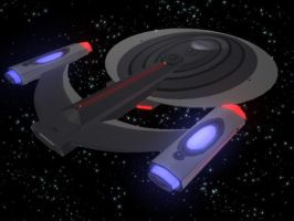 USS TITAN Prototype3 DorsalAft by thequestionmark