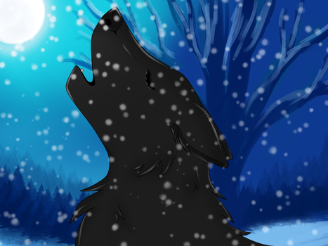 Winter Howling Shadow by IcissNightly