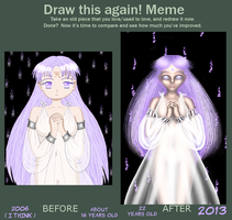 Pastel Purple Draw this again meme by Chibi-Sugar