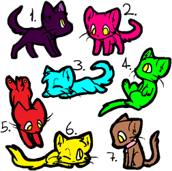 Cat Lineart Batch Mspaint Friendly By Bloodtainted by Donnasand