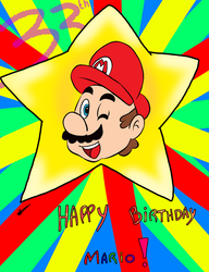 Happy 33th Mario! by Aso-Designer