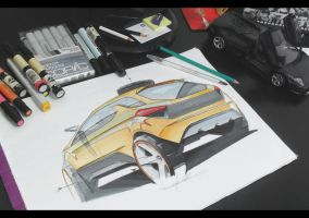 FORD rear ilustration by magao