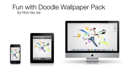 Fun With Doodle Wallpaper Pack by tayzar44