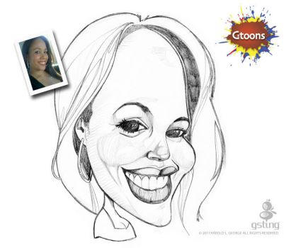Christine Torres Caricature by haroldgeorge-gsting