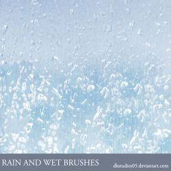 Rain and wet brushes by DKSTUDIOS05