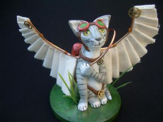 Steampunk Cat by liselfwench