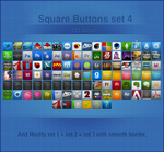 Square Buttons 48 px Set 4 by Ampeross