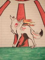 Okami pen sketch by Kichougull