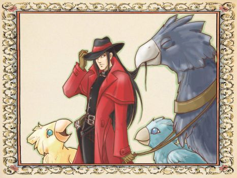 Chocobo Cowboy Vincent by animama