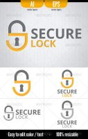 Secure Lock - Logo Template by doghead